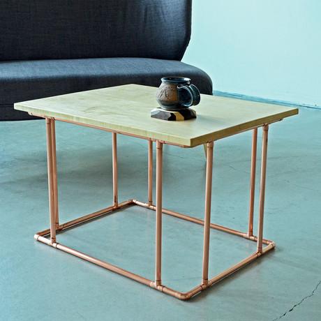 Minimalist Copper Coffee Table