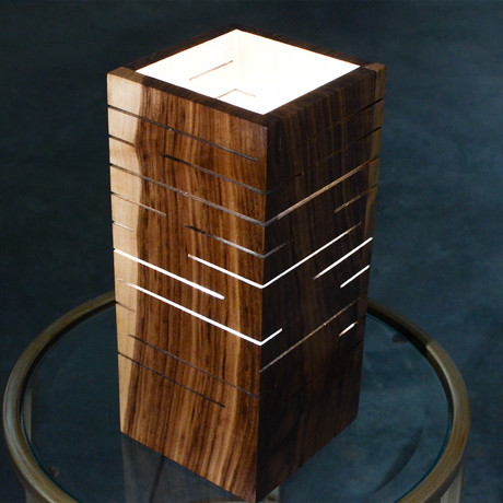 Slot Lamp // Black Walnut