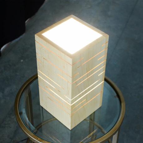 Slot Lamp // White Maple