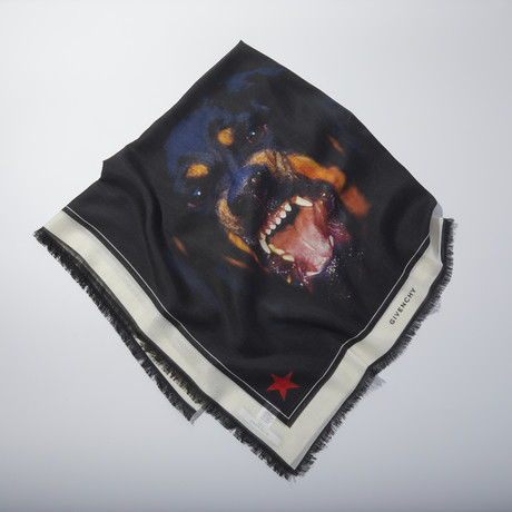 Givenchy // Rottweiler Scarf // Black