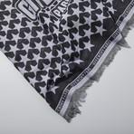 Givenchy // Wool Star Scarf // Black