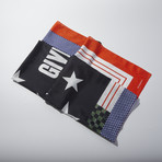 Double Sided Stars Scarf // Red