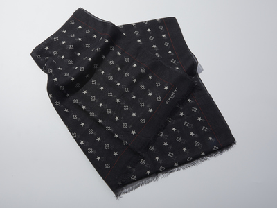 Photo of Givenchy Designer Scarves Patterned Scarf // Black by Touch Of Modern