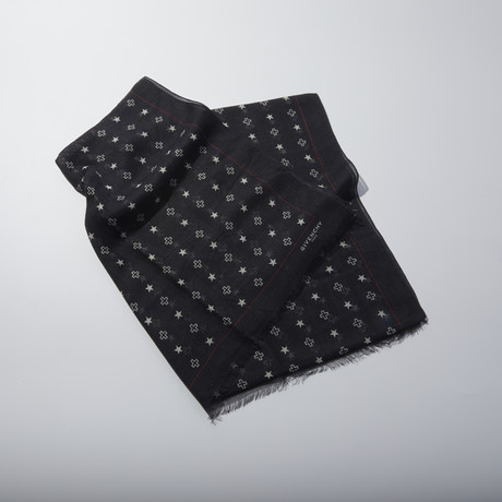 Givenchy // Patterned Scarf // Black