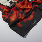 Givenchy // Wool Blend Scarf // Red