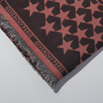 Givenchy // Large Wool Paris Stars Scarf // Red