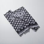 Large Wool Paris Stars Scarf // Black