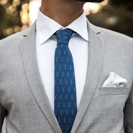 Shaken Not Stirred Tie // Blue