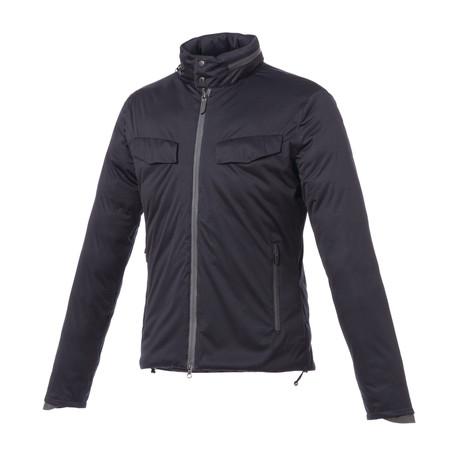 Winter Smart Jacket // Dark Blue + Orange Hood (XS)