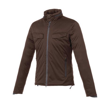 Winter Smart Jacket // Coffee Black + Orange Hood (XS)