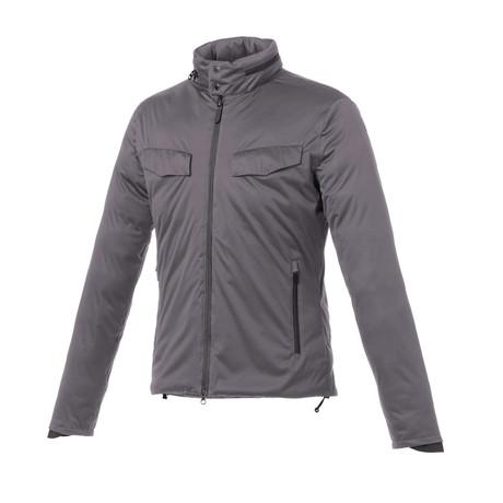 Winter Smart Jacket // Grey + Orange Hood (XS)