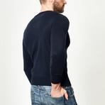 Wool Pullover V-Neck // Navy (XS)