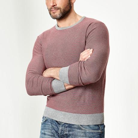 Wool Pullover Round Neck // Raspberry (XS)
