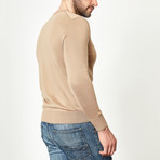 Wool V-Neck Pullover // Camel (XS)