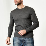 Wool Round Neck Pullover // Charcoal (XS)