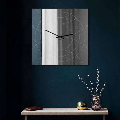 Narciso Clock + Mirror // Square (Black)