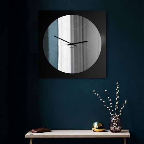 Narciso Clock + Mirror // Round (Black)