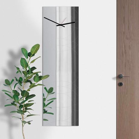 Narciso Clock + Mirror // Rectangular (Black)