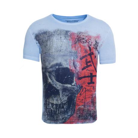Japan Skull T-Shirt // Sky Blue (S)