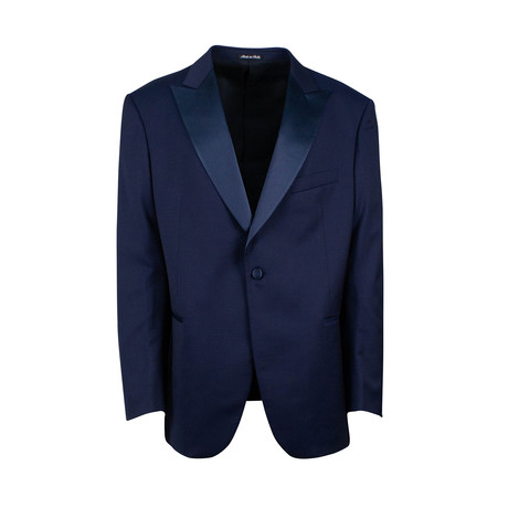 Pal Zileri // Wool Tuxedo Suit // Navy Blue (Euro: 48)