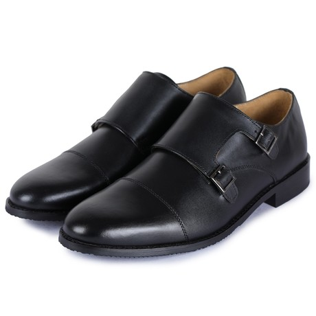 Captoe Double Monk Strap // Black (US: 8)