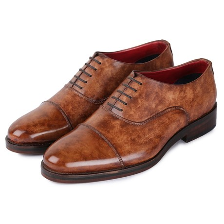 Captoe Oxford Classic Dress Shoes // Brown (US: 8)