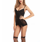 Sexy Shaper Lingerie + G-String Set // Black (S)