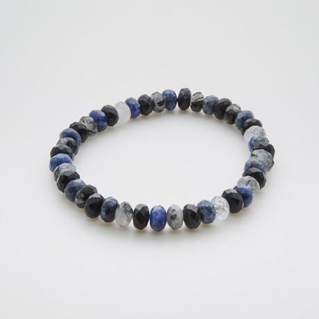 Tasmanian Beaded Bracelet // Sodalite + Stone + Quartz