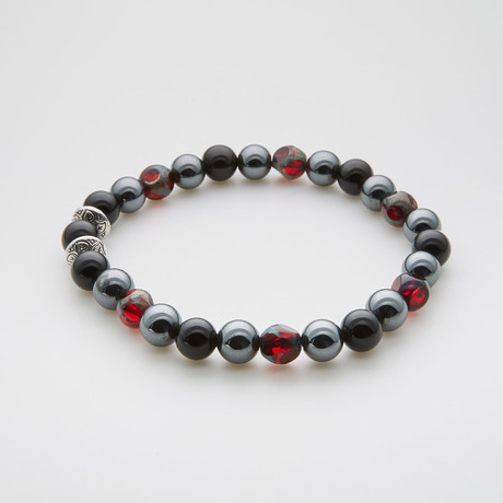 Dell Arte // Pomegranate Luck Beaded Bracelet // Multicolor