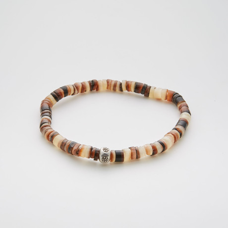 Australian Shell Beaded Bracelet // Brown
