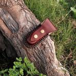 Handmade Damascus Liner Lock Folding Knife // 2735