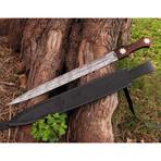 Damascus Short Sword