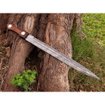 Damascus Short Sword