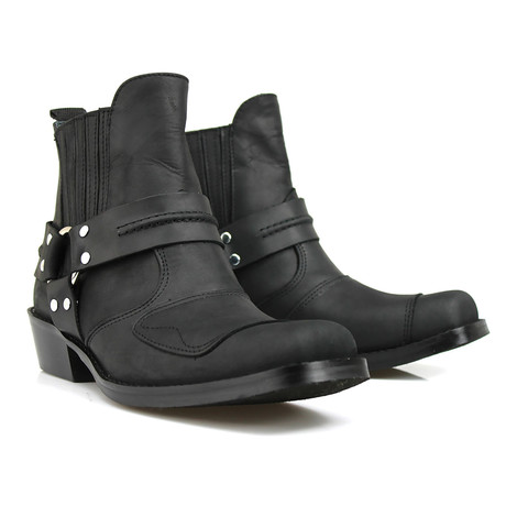 Diego Performance Boots // Crazy Black Armadillo (US: 7)