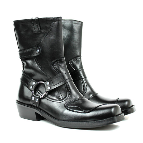 Allan Motorcycle Boots // Black Armadillo (US: 7)