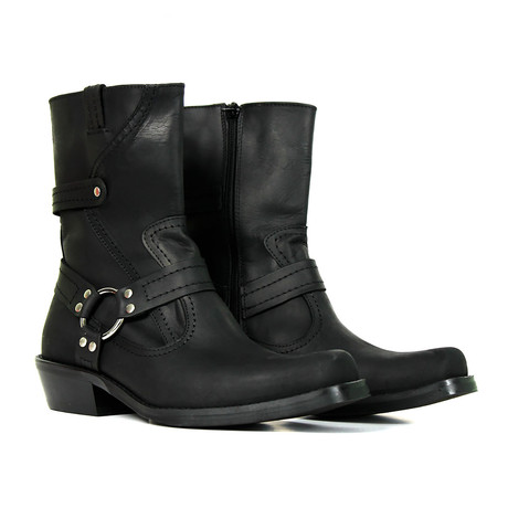 Wesley Motorcycle Boots // Crazy Black (US: 7)