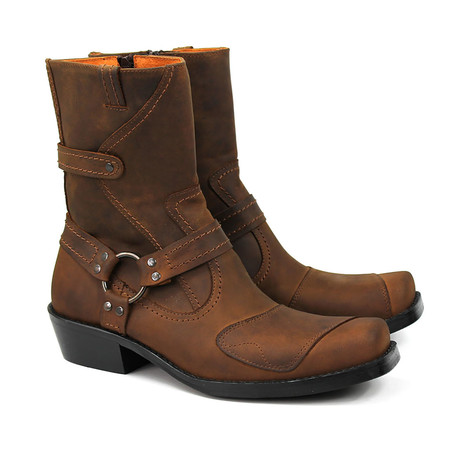 Jamarion Motorcycle Boots // Chocolate Brown Armadillo (US: 7)