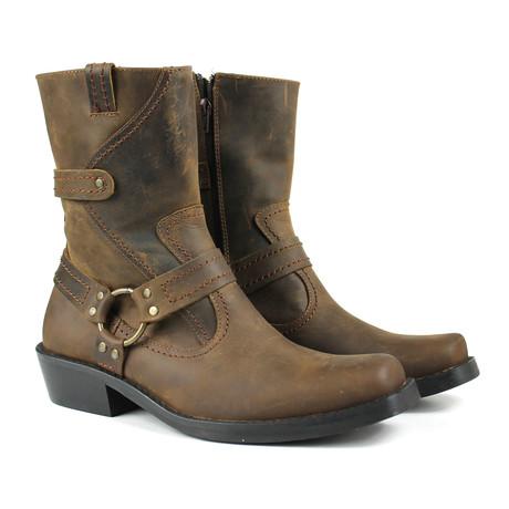 Abel Motorcycle Boots // Chocolate Nubuck (US: 7)