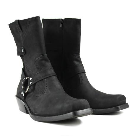 Logan Motorcycle Boots // Nubuck Black (US: 7)