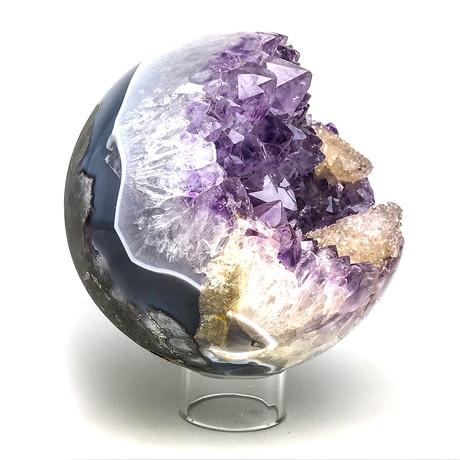 Amethyst Geode Agate Sphere I