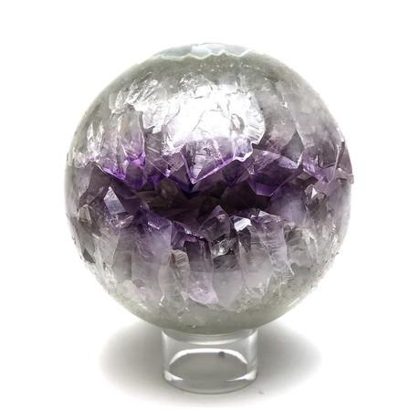 Amethyst Geode Agate Sphere II