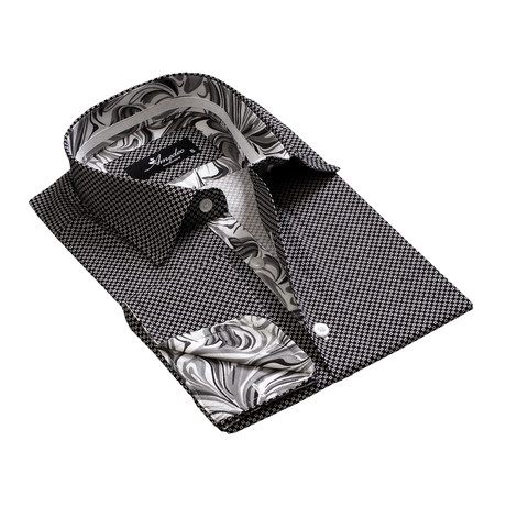 Amedeo Exclusive // Reversible Cuff French Cuff Shirt // Black + White (S)