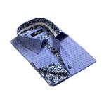 Reversible Cuff French Cuff Shirt // Denim Blue (M)