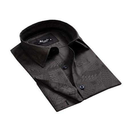 Reversible Cuff French Cuff Shirt // Black Paisley (XL)