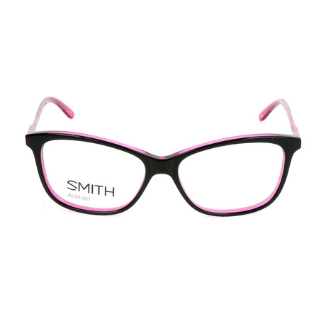 Women's Jaden VC8 Optical Frames // Shiny Black + Fuchsia