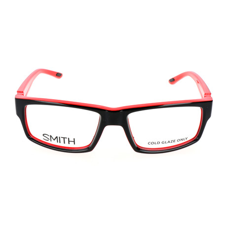 Men's Vagabond MV5 Optical Frames // Black + Red