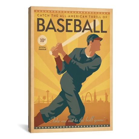 "Baseball Across America // Anderson Design Group (18""W x 26""H x 0.75""D)"