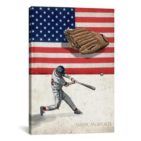 "American Sports: Baseball I // GraphINC (18""W x 26""H x 0.75""D)"
