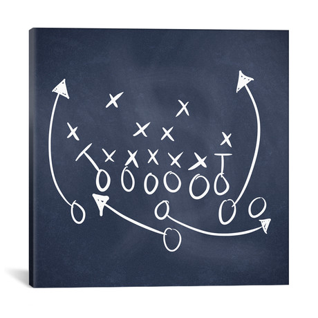 """Scrimmage Blue // 5by5collective (18""""W x 18""""H x 0.75""""D)"""