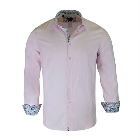 Solomon True Modern-Fit Dress Shirt // Pink (S)